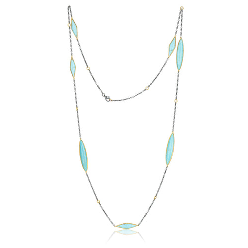 Lika Behar Kite Turquoise Necklace