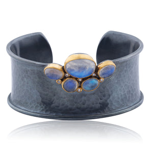 Lika Behar Moonstone & Diamond Cuff