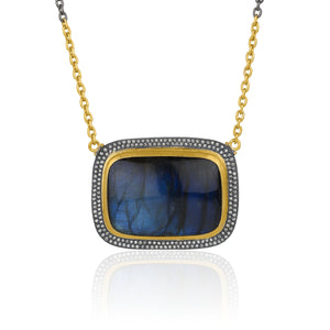 Lika Behar Double Bezel Labradorite Necklace