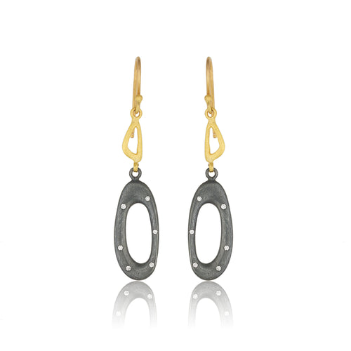 Lika Behar Open Oval Earrings