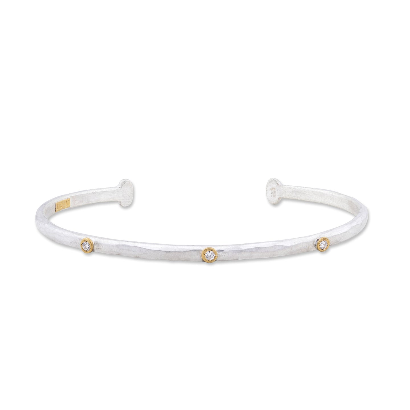 Lika Behar Thin Cuff with Diamonds