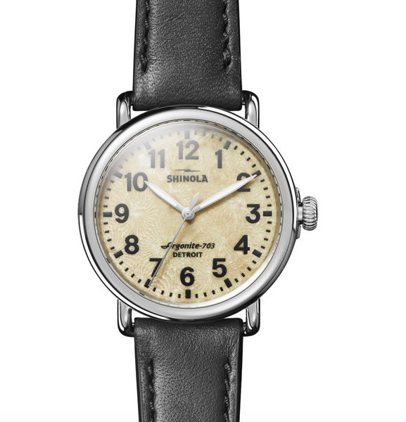 Shinola Runwell 3HD 41mm (Natural Stone+Black)
