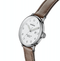Shinola Canfield 3HD 43mm (Alabaster+Dark Brown Strap)
