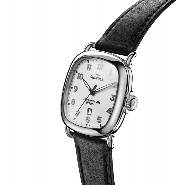Shinola Gaurdian 3HD (White+Black Strap)