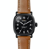 Shinola Gaurdian (Black+Tan Strap)