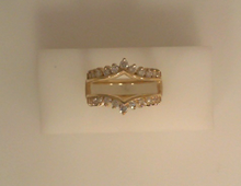 White Gold Pointed Diamond Ring Jacket Band