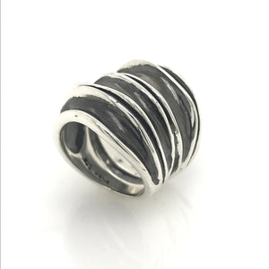 Double Wide Waves Ring