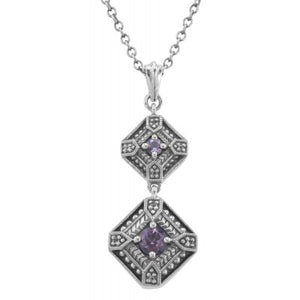 Art Deco Amethyst Center Necklace