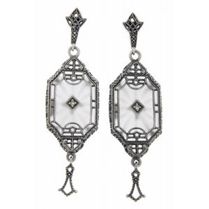 Art Deco Sunray Crystal Earring
