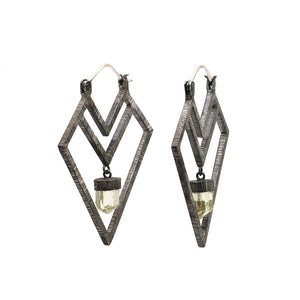 Mariella Pilato Crystal Delving Arrow Earring