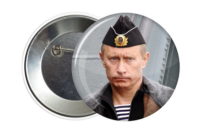 BADGE PIN BUTTON VLADIMIR POUTINE CHEF DES ARMEES - RUSSIAFR
