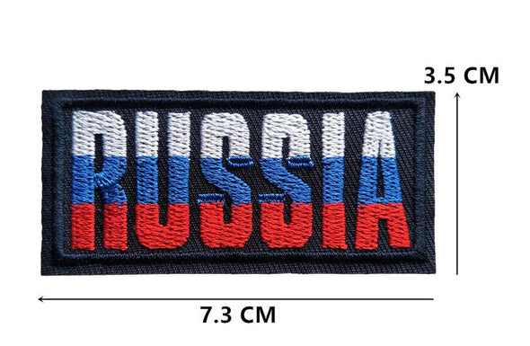 ECUSSON PATCH RUSSIA THERMOCOLLANT OU A COUDRE 3.5 X 7.3 CM - RUSSIAFR