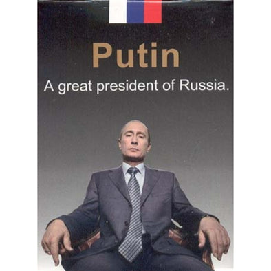 JEUX 54 CARTES POKER PRESIDENT VLADIMIR POUTINE RUSSIE - RUSSIAFR