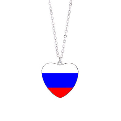 PENDENTIF COEUR RUSSE AVEC CHAINE - RUSSIAFR