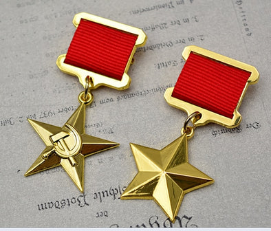 REPRODUCTION ETOILE UNION SOVETIQUE MEDAILLE DU TRAVAIL - RUSSIAFR