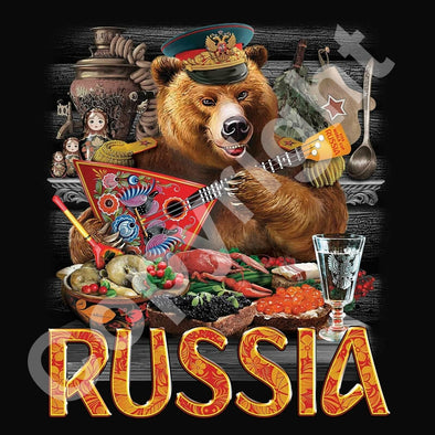 T-shirt RUSSIA & BEAR - RUSSIAFR