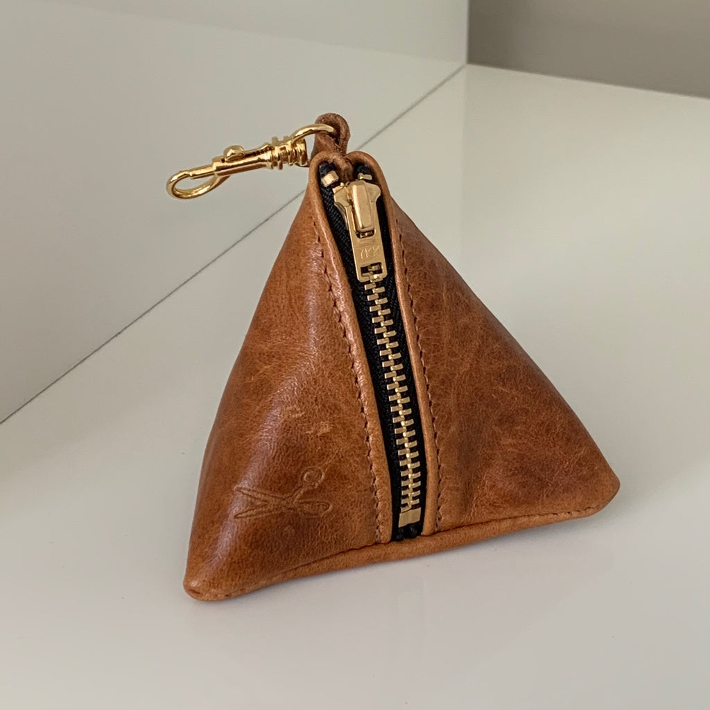 Leather Mini Triangle Pouch