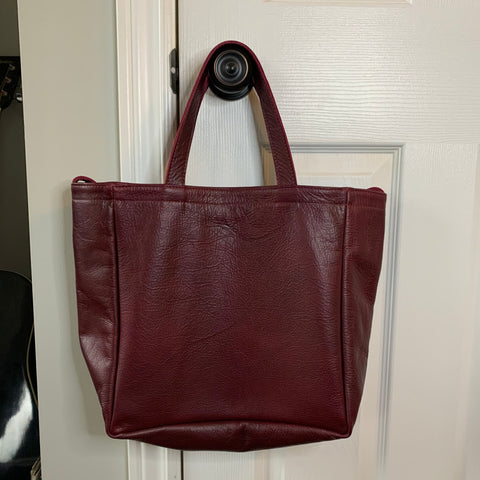 Small Leather Tote Bag- READY TO SHIP
