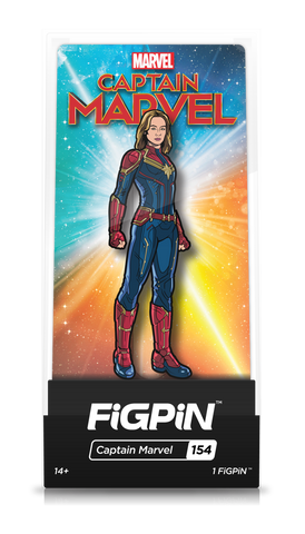 Figpin Captain Marvel Collectible Pin #154 NEW
