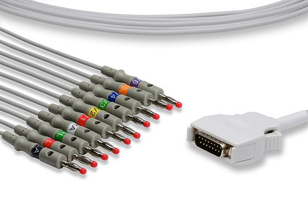 Mortara > Burdick Compatible Direct-Connect EKG Cable