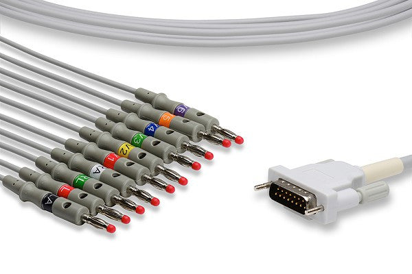 Schiller Compatible Direct-Connect EKG Cable