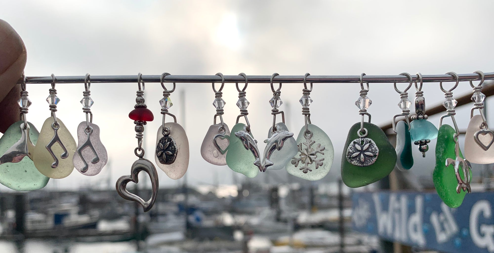 Sea Glass Charm Pendant