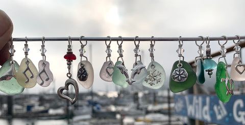 Sea Glass Charm Pendants