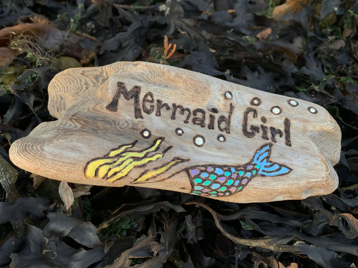 Burned and Painted Driftwood Signs 10