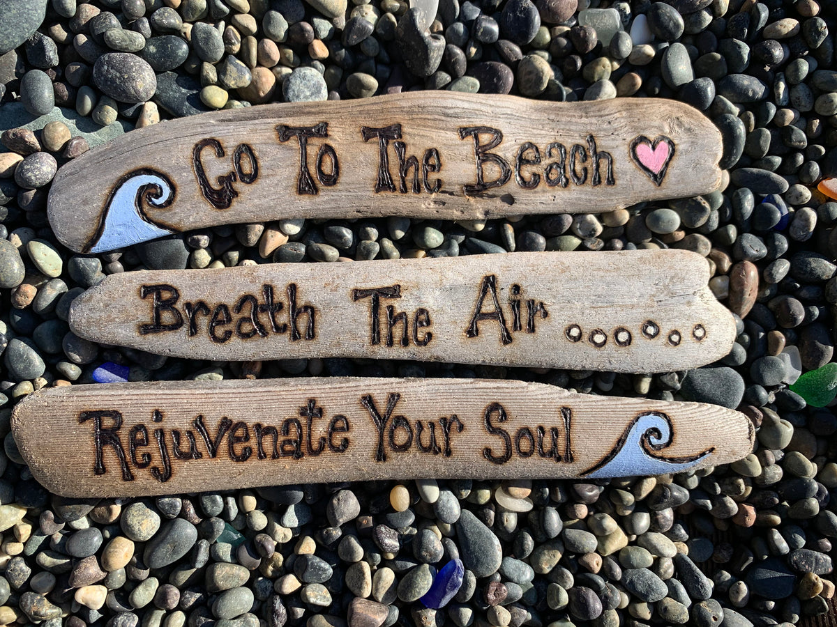 Burned and Painted Driftwood Signs 1