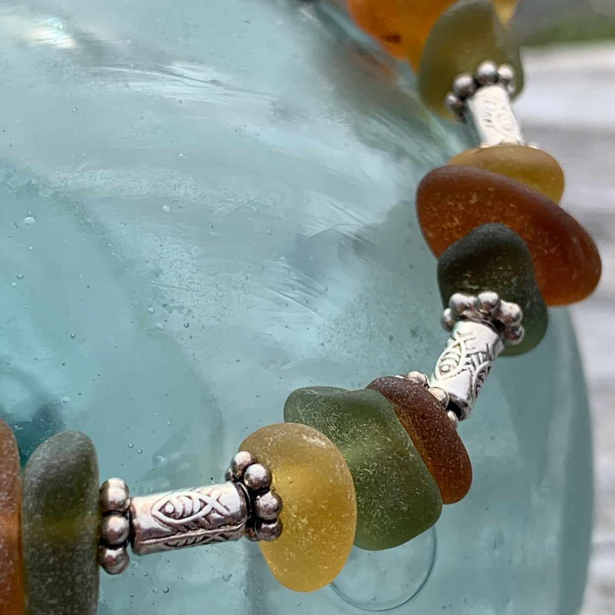 "Sea Glass Bracelet: ""Thaleia"""