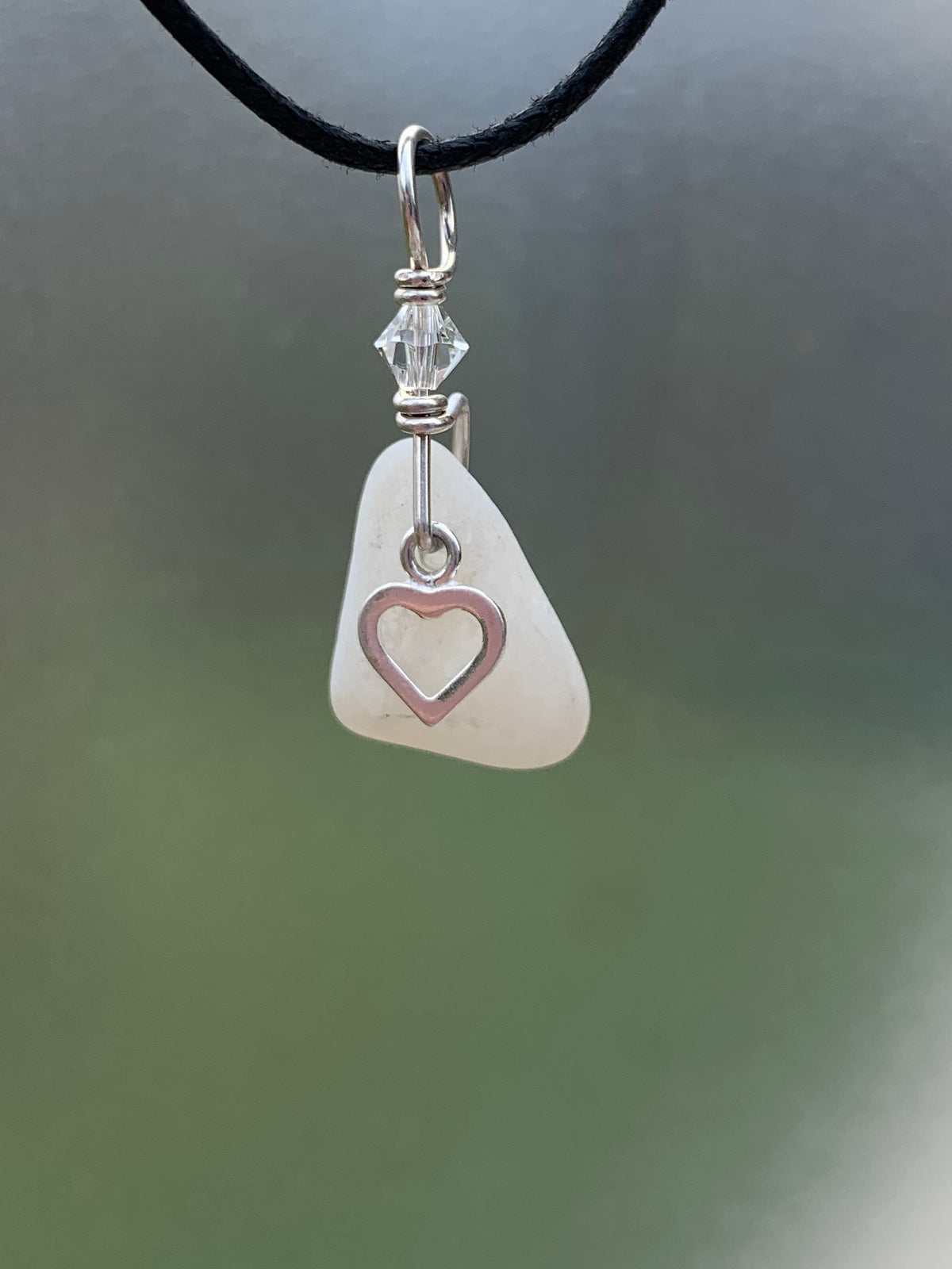 Sea Glass Charm Pendant 11