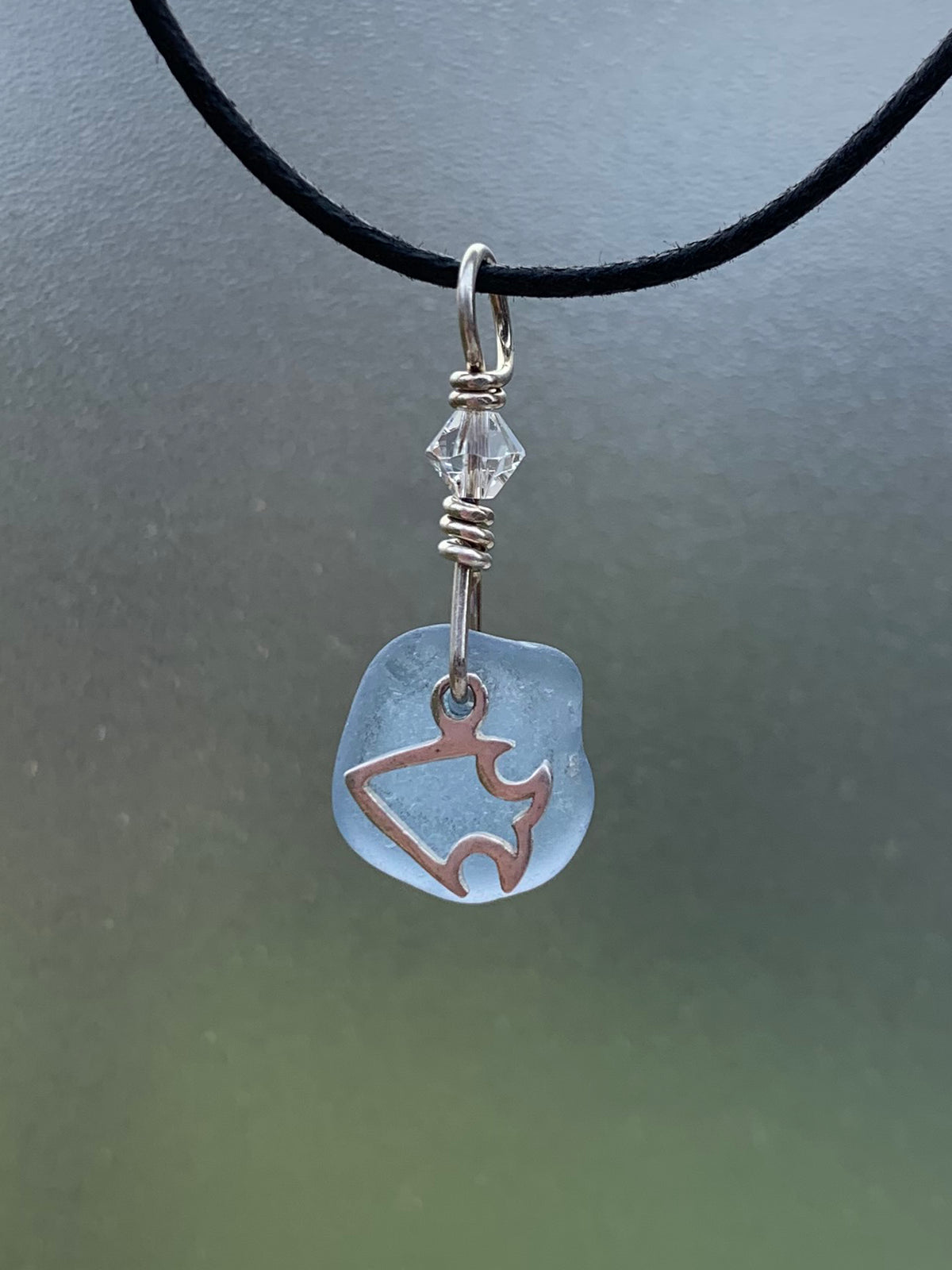 Sea Glass Charm Pendant 21