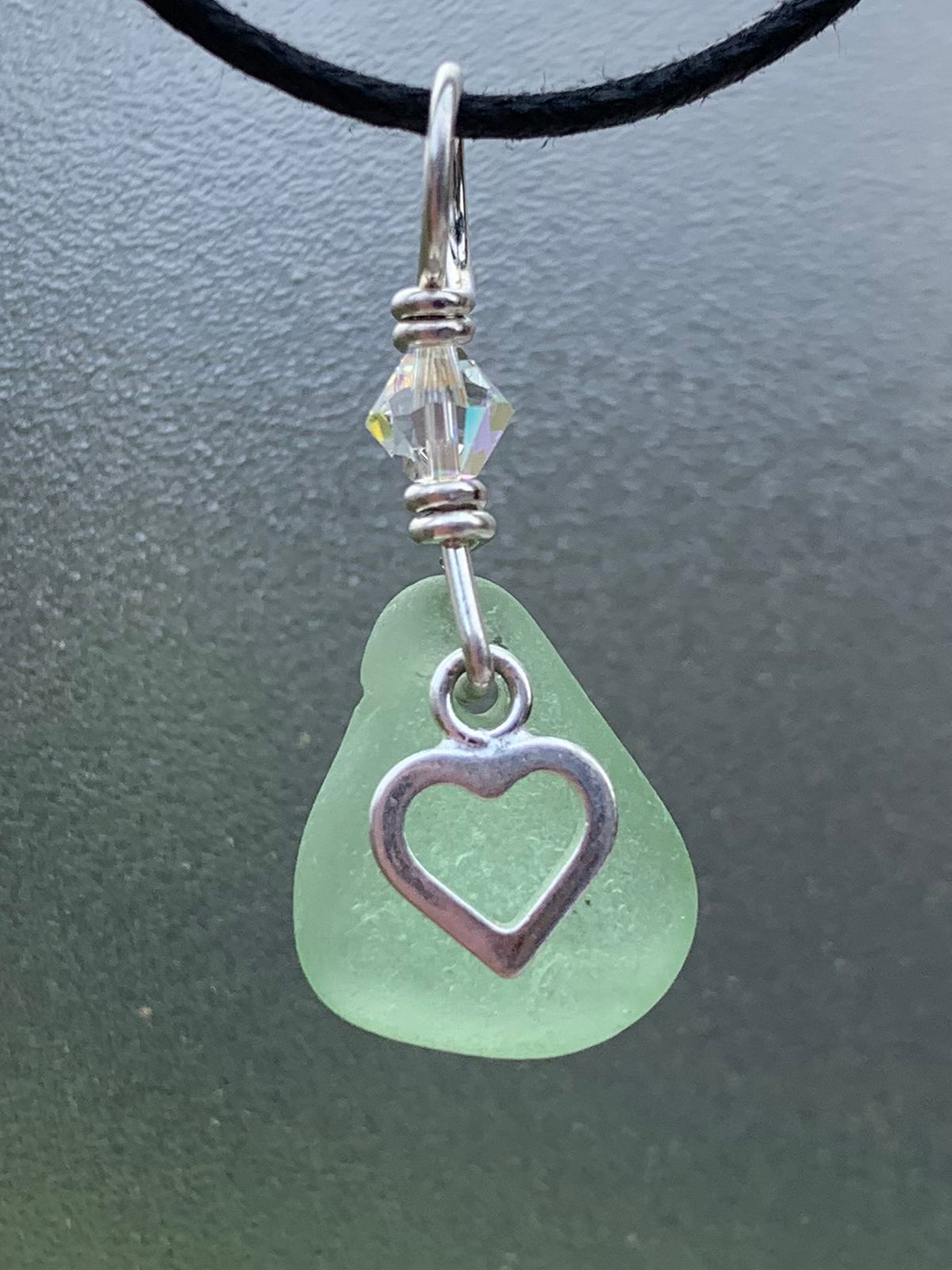Sea Glass Charm Pendant 24