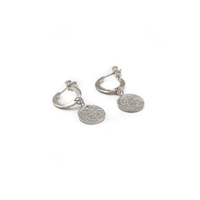 Load image into Gallery viewer, Faistos Disc Earrings-Silver