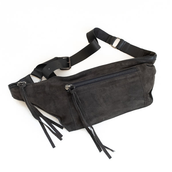 Bravado Suede Belt Bag-Grey