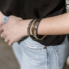 Load image into Gallery viewer, girl with three 3rd-floor handmade coordinates bracelets marco silver
