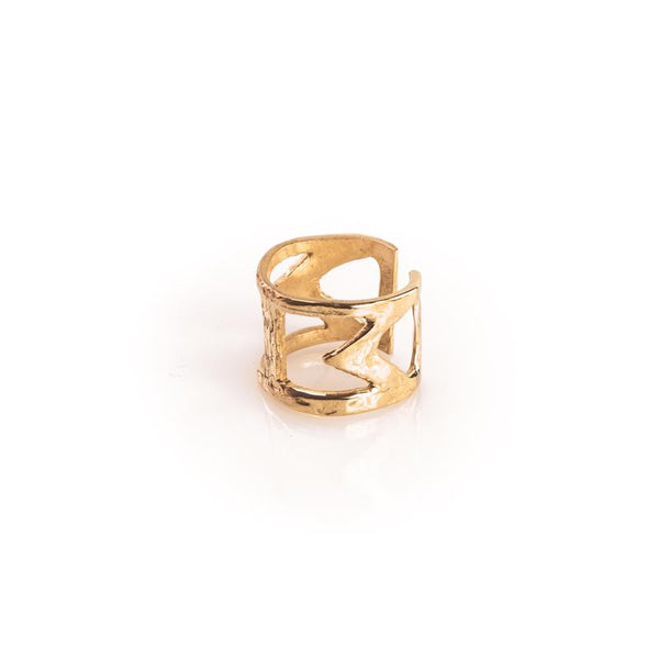 Bailey Handmade Ring 925 silver gold plated