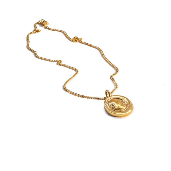 Aphrodite Melainis Necklace-Gold