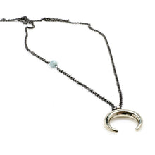 Load image into Gallery viewer, Aqua Handmade Necklace silver by 3rdfloor handmade jewels