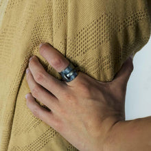 Load image into Gallery viewer, 3rd floor handmade jewellery catch me ring black