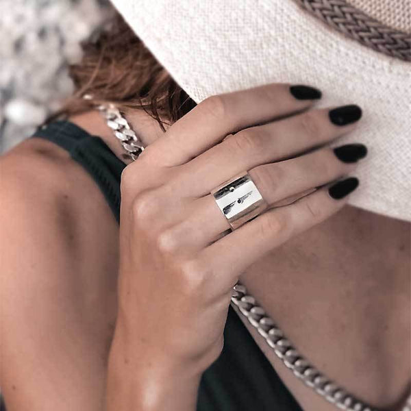 Fresh Handmade Ring - Silver Plated 925° Silver