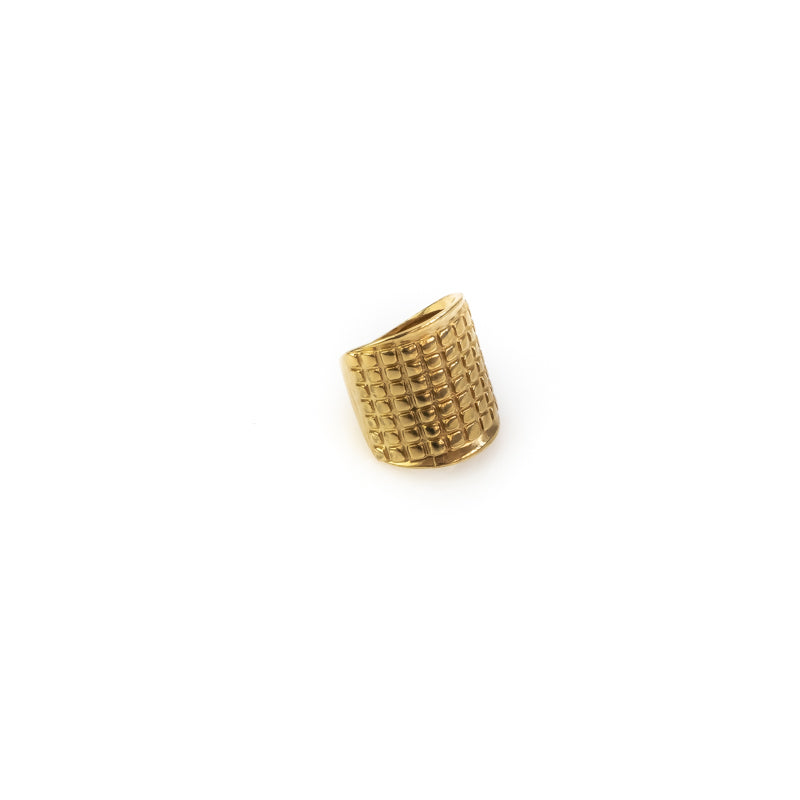 Valor. Handmade, wide, square cut ring, by 3rd Floor