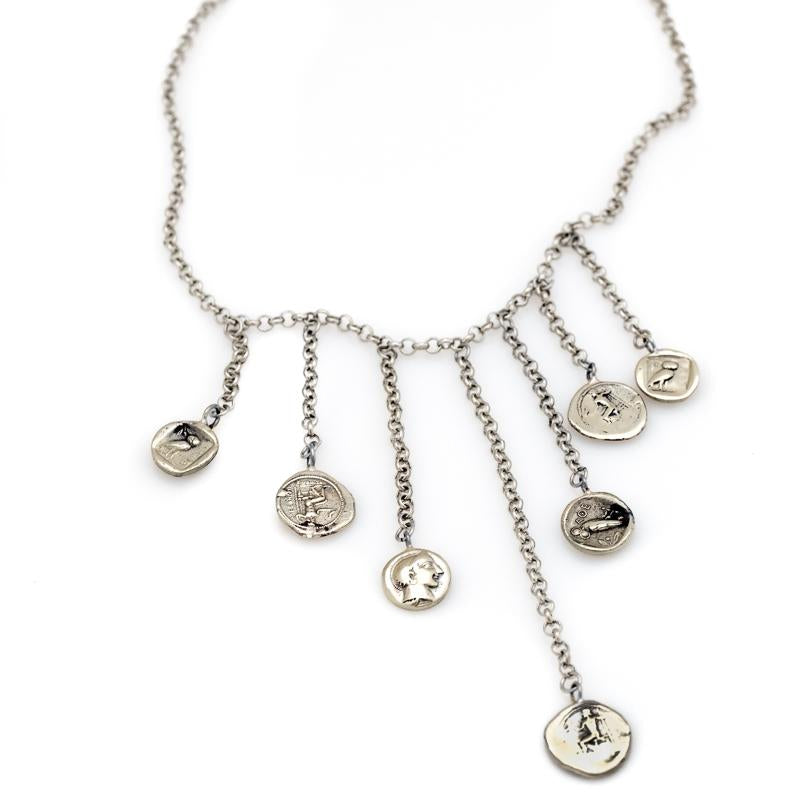 Obolus Necklace-Silver