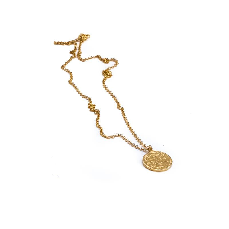 Faistos Disc Necklace-Gold