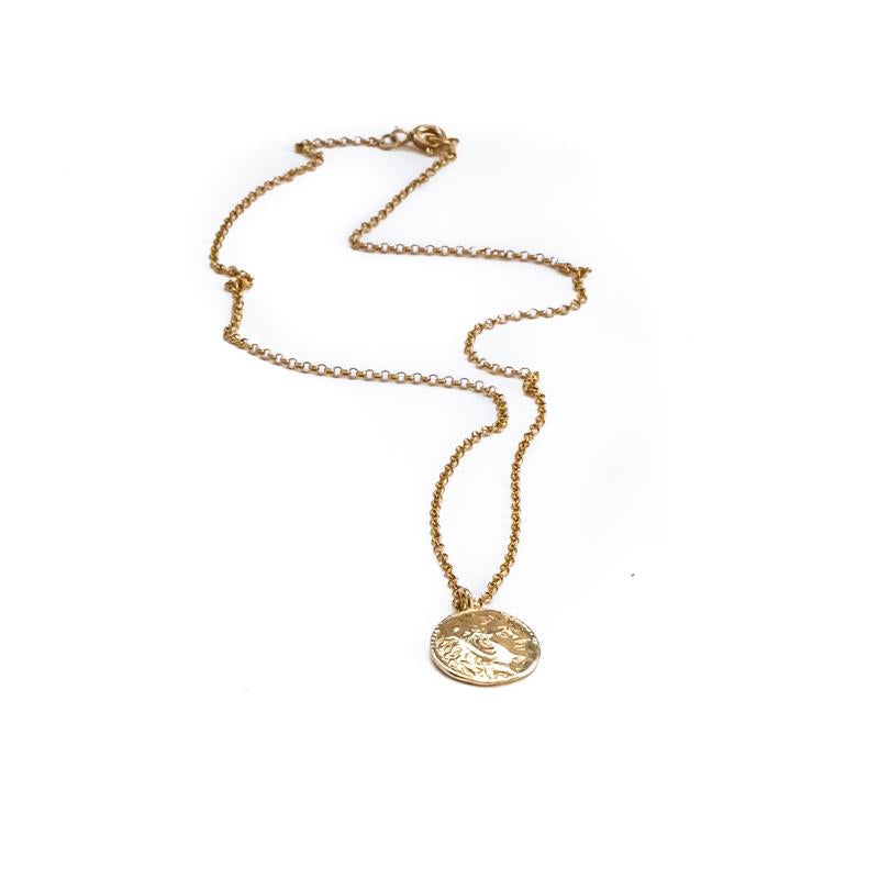 Phillip Coin Necklace-Gold