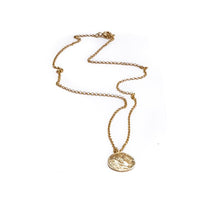 Load image into Gallery viewer, Phillip Coin Necklace-Gold