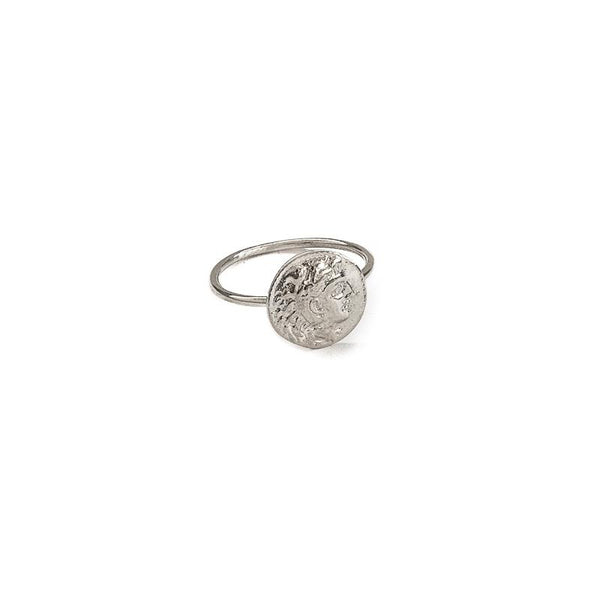 3rdfloor-handmade jewellery Philip coin ring silver