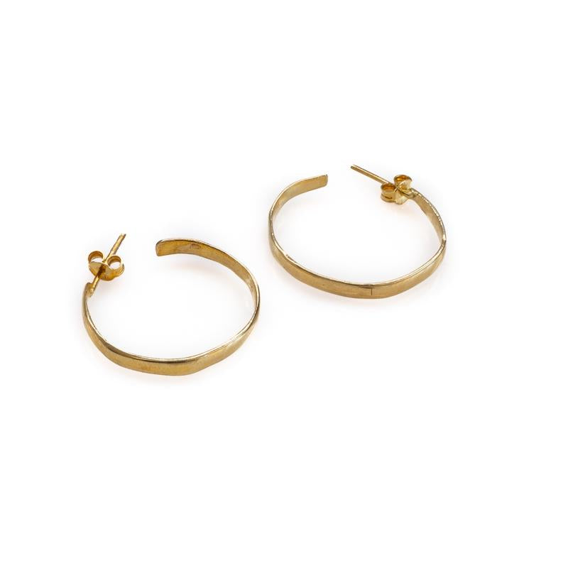 Gold plated, handmade hoop earrings by 3rd Floor Handmade Jewellery