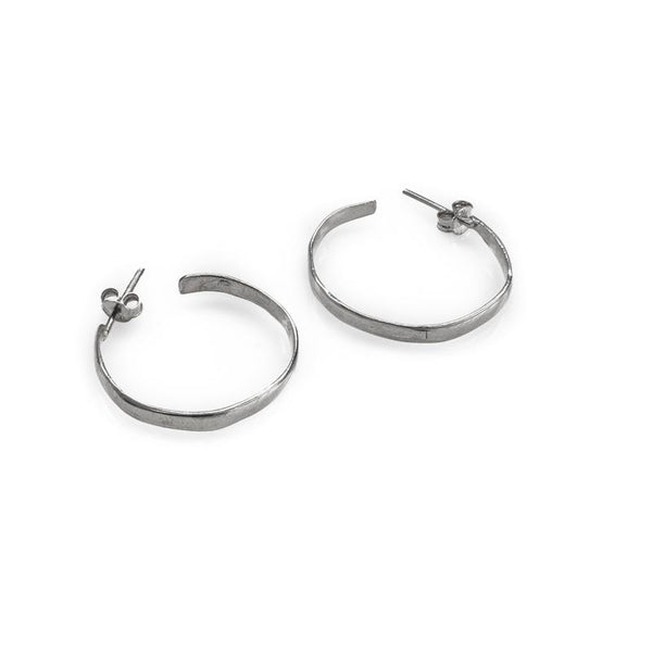 Timber Handmade Earrings-Silver