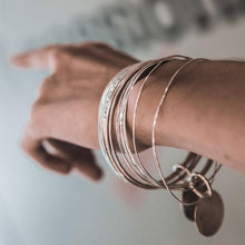 Load image into Gallery viewer, Coordinates handmade bracelets stamped with the longitude and latitude coordinates of your choice 3rd Floor Coordinates Line